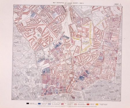 Map Descriptive of London poverty (in 12 sheets) SHEET 3, Northern District [Enlarge-agrandir-μεγαλώστε]