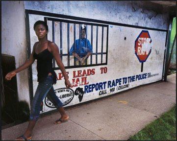 Λιβερία, καμπάνια κόντρα στους βιασμούς, στη à Monrovia, 2007, του Michel Monteaux