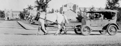 """Bennett buggies""(στον Καναδά), ή ""Hoover wagons""(στις ΗΠΑ), οχήματα που τα έσερναν άλογα, χρησιμοποιούσαν οι αγρότες που δεν είχαν ν'αγοράσουν βενζίνη"