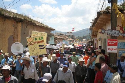 13 Σεπτεμβρίου : Διαδήλωση στην Intibucá, επαρχιακή πόλη.