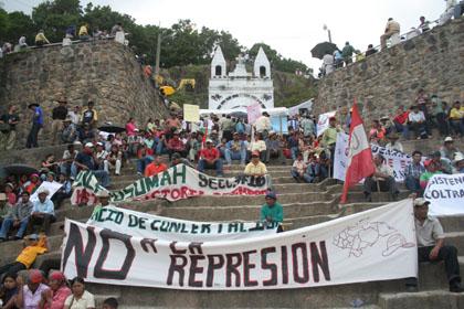 13 Σεπτεμβρίου : η Intibucá λέει 'όχι' στην καταστολή