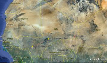 Η πόλη Azawa, Mali  [Enlarge-agrandir-μεγαλώστε]