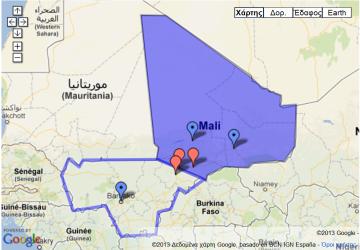 Με μωβ χρώμα, η περιοχή που ελέγχεται από τις ένοπλες ισλαμικές ομάδες - in purple, the Area controlled by armed Islamist groups -en mauve la Zone contrôlée par les groupes islamistes armés [Enlarge-agrandir-μεγαλώστε]