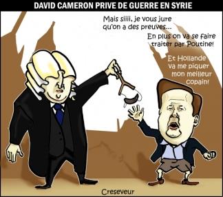 Το βρετανικό κοινοβούλιο απορρίπτει τον πόλεμο στη Συρία: Ο Ντέιβιντ Κάμερον θα στερηθεί τον πόλεμό του στη Συρία ... Μα, ναιιιιι .. Ορκίζομαι, έχουμε αποδείξεις ... Επιπλέον, θα μας ξεφτιλίσει και ο Πούτιν ... Και ο Ολλάντ θα μου κλέψει τον καλύτερο φίλο μου ... - The British parliament rejects war in Syria: David Cameron will be deprived of his war in Syria ... But, yes .. I swear we have evidence ... In addition we will be treated by Putin ... And Holland will steal to me my best friend ... [Enlarge-agrandir-μεγαλώστε]