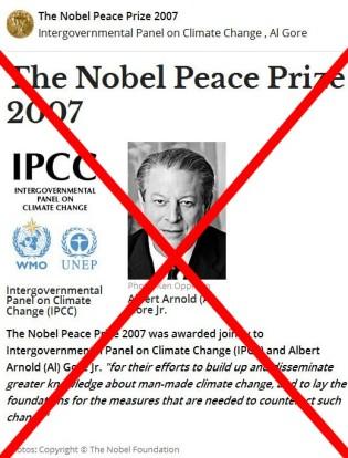 """Το Νόμπελ Ειρήνης 2007 απονεμήθηκε από κοινού στον Διακυβερνητική Επιτροπή για την Αλλαγή του Κλίματος (IPCC) και Albert Arnold (Al) Gore νεώτερος """"για τις προσπάθειές τους για τη δημιουργία και τη διάδοση μεγαλύτερη γνώση για τεχνητές αλλαγή του κλίματος, και να θέσει τις βάσεις για την τα μέτρα που απαιτούνται για την εξουδετέρωση αυτής της αλλαγής """" - The Nobel Peace Prize 2007 was awarded jointly to Intergovernmental Panel on Climate Change (IPCC) and Albert Arnold (Al) Gore Jr. """"for their efforts to build up and disseminate greater knowledge about man-made climate change, and to lay the foundations for the measures that are needed to counteract such change"""" - Le Nobel de la paix 2007 a été décerné conjointement au Groupe d'experts intergouvernemental sur l'évolution du climat (GIEC) et Albert Arnold (Al) Gore Jr. """"pour leurs efforts de collecte et de diffusion des connaissances sur l'homme fait des changements climatiques, et à jeter les bases d'les mesures qui sont nécessaires pour contrer de tels changements """" - Paix 2007 de La de Le Nobel d'experts d'un Groupe d'Au de conjointement de décerné d'été sur l'évolution du climat intergouvernemental (GIEC) et Albert Arnold (Al) Gore Jr. « versez leurs efforts de collecte et climatiques de changements de DES de fait de l'homme de sur de connaissances de diffusion des, et les nécessaires de sont de qui de mesures d'les de bases de les de jeter d'à versent des changements de contrer de tels » via  [Enlarge-agrandir-μεγαλώστε]"""