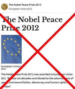 """Το Βραβείο Νόμπελ Ειρήνης 2012 απονεμήθηκε στην Ευρωπαϊκή Ένωση (ΕΕ) """"για πάνω από έξι δεκαετίες συνέβαλαν στην πρόοδο της ειρήνης και της συμφιλίωσης, της δημοκρατίας και των ανθρωπίνων δικαιωμάτων στην Ευρώπη"""". - The Nobel Peace Prize 2012 was awarded to European Union (EU) """"for over six decades contributed to the advancement of peace and reconciliation, democracy and human rights in Europe"""" - Le Nobel de la paix 2012 a été attribué à l'Union européenne (UE) """"pendant plus de six décennies contribué à l'avancement de la paix et de la réconciliation, la démocratie et les droits de l'homme en Europe» via [Enlarge-agrandir-μεγαλώστε]"""