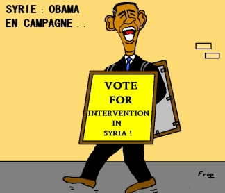 Εκστρατεία Ομπάμα: Ψηφίστε την επέμβαση στη Συρία! - Obama In Campaign: Vote for intervention in Syria! - Obama En Campagne: Votez pour l'intervention en Syrie! Via: Crayon de Nuit Frep [Enlarge-agrandir-μεγαλώστε]