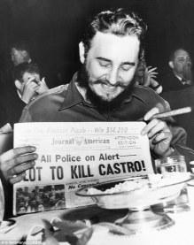 Ο Κάστρο επιβίωσε από περισσότερες από 600 απόπειρες δολοφονίας από τότε που έγινε πρωθυπουργός της Κούβας - Castro survived over 600 assassination attempts since becoming the Prime Minister of Cuba - Castro a survécu à plus de 600 tentatives d'assassinat depuis qu'il est devenu le premier ministre de Cuba [Μεγαλώστε - Enlarge - Agrandir]