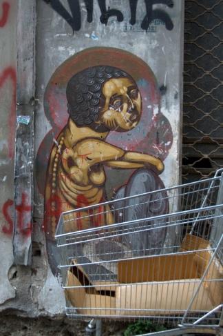 Έλληνας Άγιος με άδειο καρότσι σούπερ μάρκετ - Greek Saint with an empty carriage of supermarket - Saint Grec au chariot de supermarché vide [Μεγαλώστε - Enlarge - Agrandir]