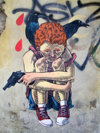 Αυτή η συνοικία είναι ένας προμαχώνας αμφισβήτησης της αριστεράς, από την εποχή της πάλης ενάντια στη δικτατορία των συνταγματαρχών (1967-1974) - This district is a bastion of the dispute of left, since the fight against the dictatorship of the colonels (1967-1974) - Ce quartier est un bastion de la contestation de gauche, depuis la lutte contre la dictature des colonels (1967-1974) [Μεγαλώστε - Enlarge - Agrandir]